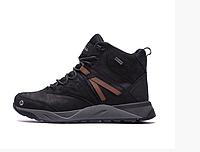 Чоловічі зимові шкіряні черевики Merrell black чорні, фото 1