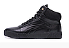 Мужские зимние кожаные ботинки Puma black Leather черные