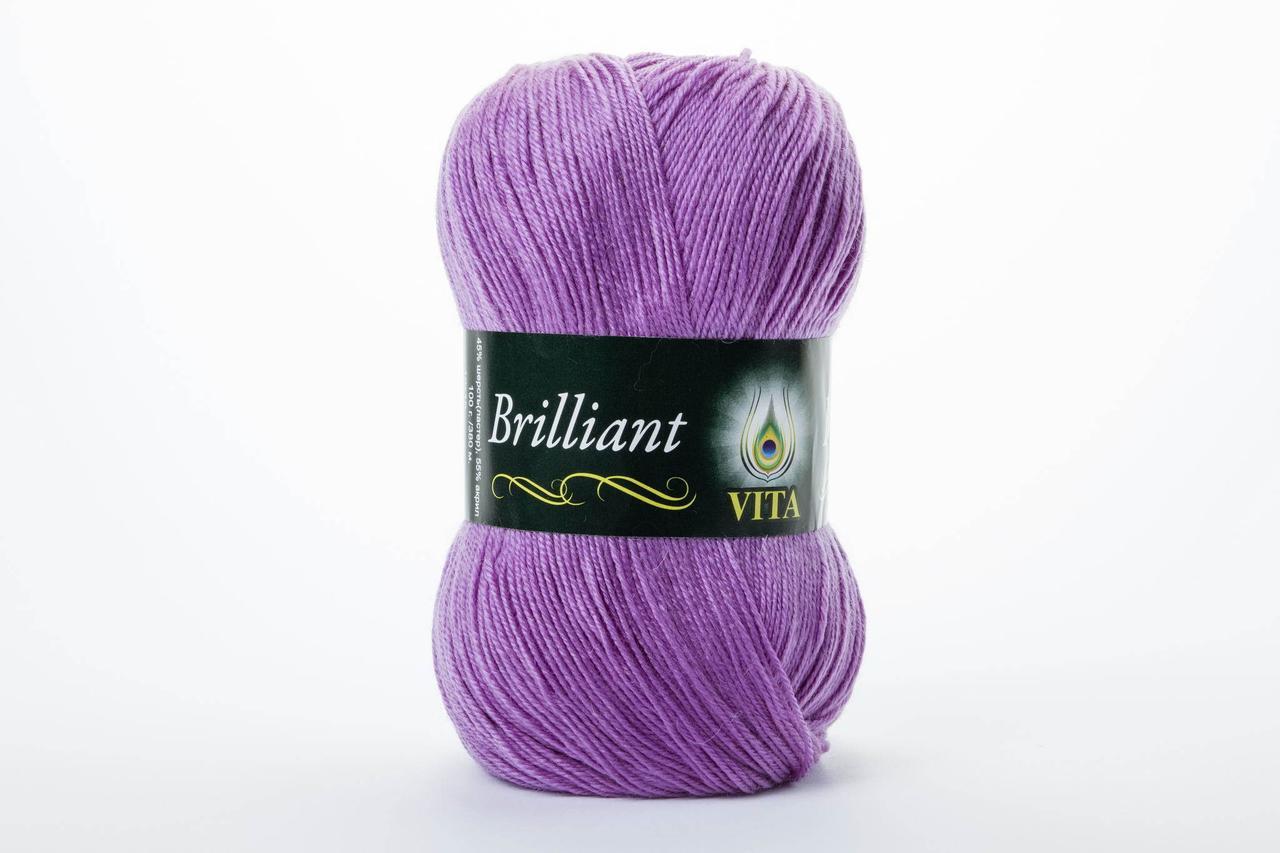 Пряжа Vita Brilliant 4961 средний сиреневый