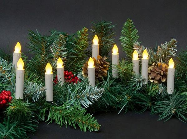 Новогодние Свечи беспроводные 15 свечей + пульт