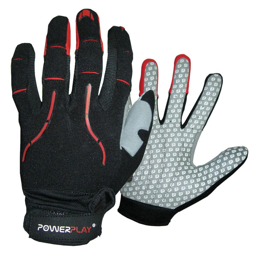 Робочі рукавички PowerPlay 6662 В Чорно-Червоні L