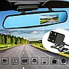 ✅ Видеорегистратор зеркало с двумя камерами L 9000, фото 8