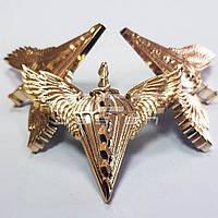Кокарда, Беретний знак ДШВ пластик золото