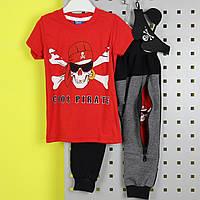 26487 Костюм футболка, штани, маска пірата червоний пр-ль Туреччина розмір 1-2,3-4 роки