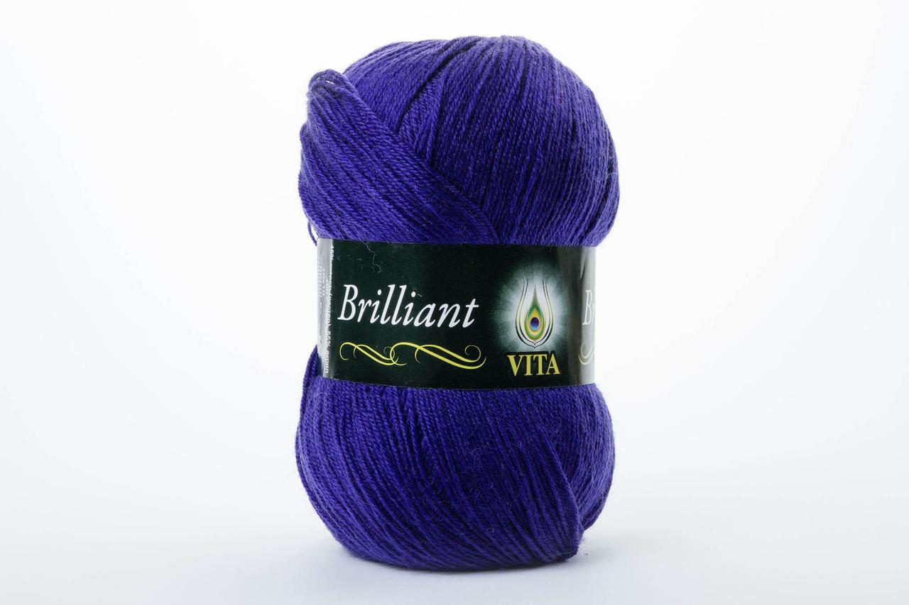 Пряжа Vita Brilliant 5105 тёмный фиолет