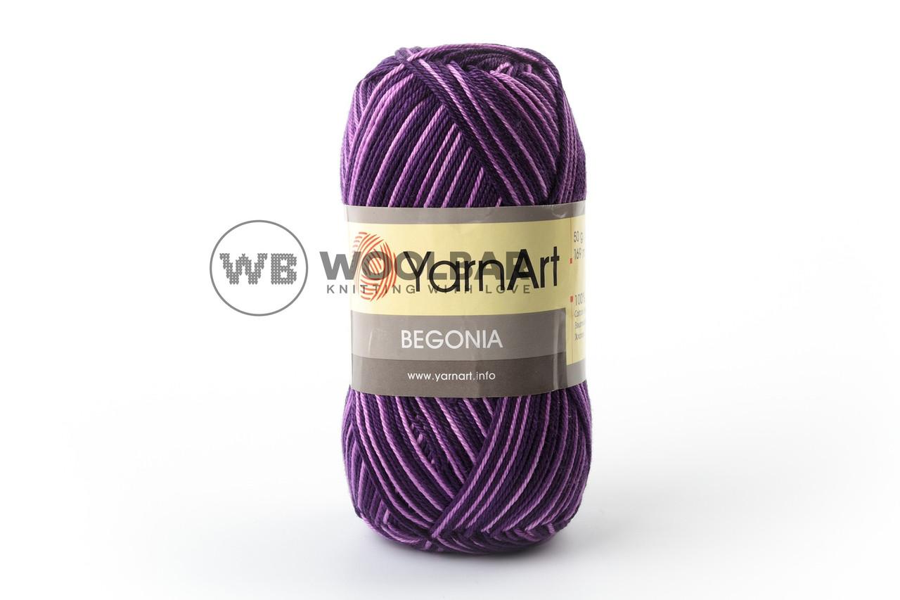 Пряжа YarnArt Begonia Melange 68 фиолетовый меланж