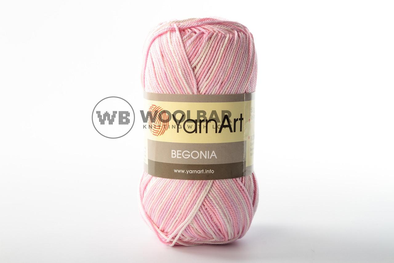 Пряжа YarnArt Begonia Melange 3051 рожевий меланж