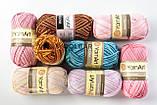 Пряжа YarnArt Begonia Melange 3051 рожевий меланж, фото 2