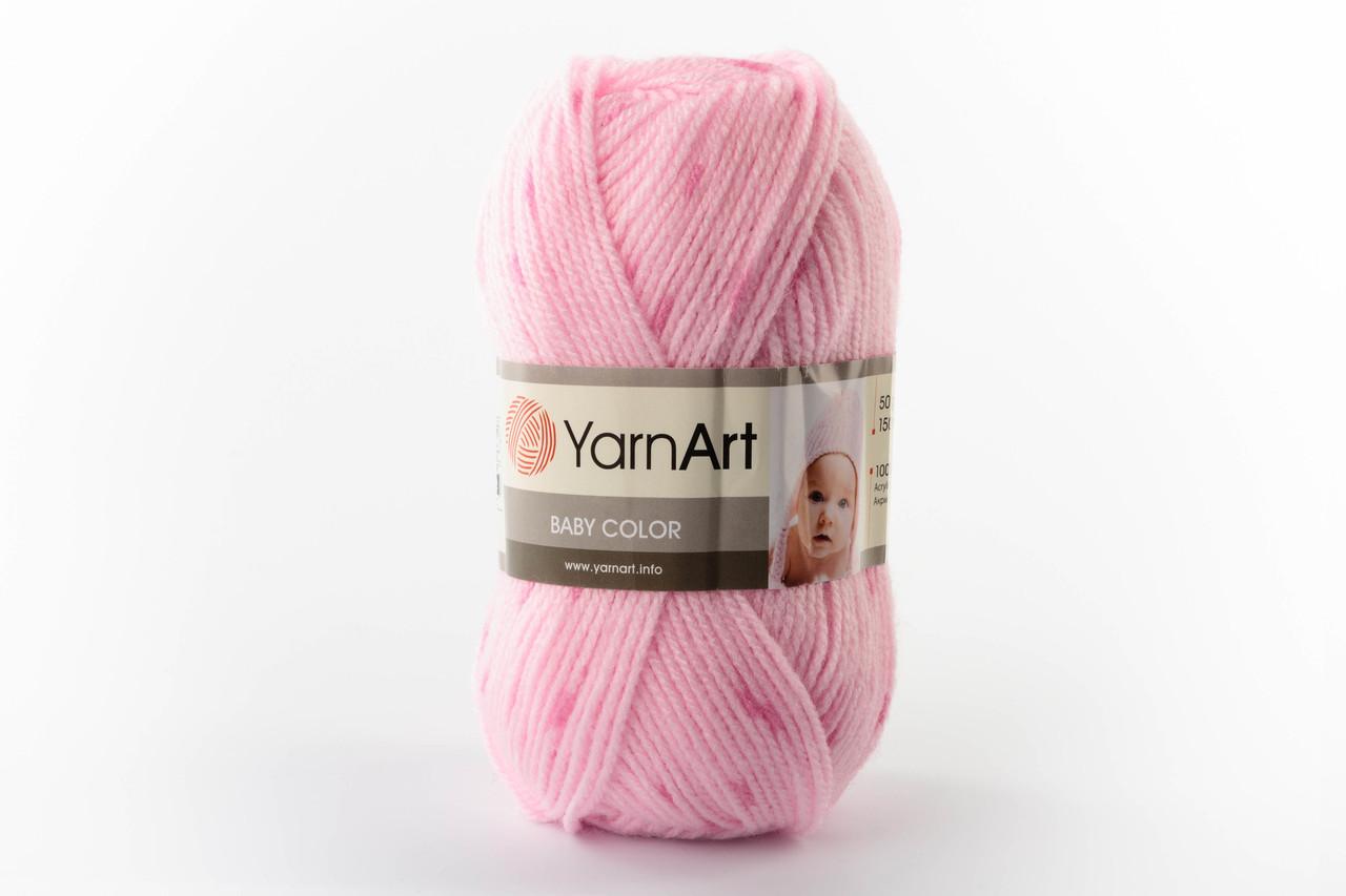 Пряжа YarnArt Baby Color 0266 розовый меланж