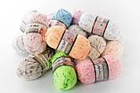Пряжа YarnArt Baby Color 0268 білий+синій+оранжевий меланж, фото 3