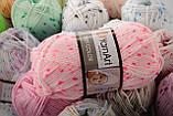 Пряжа YarnArt Baby Color 0268 білий+синій+оранжевий меланж, фото 4