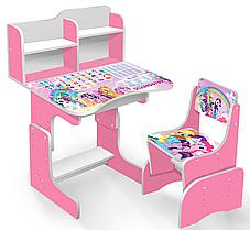 Парта школьная растишка Литл Пони 018, розовая