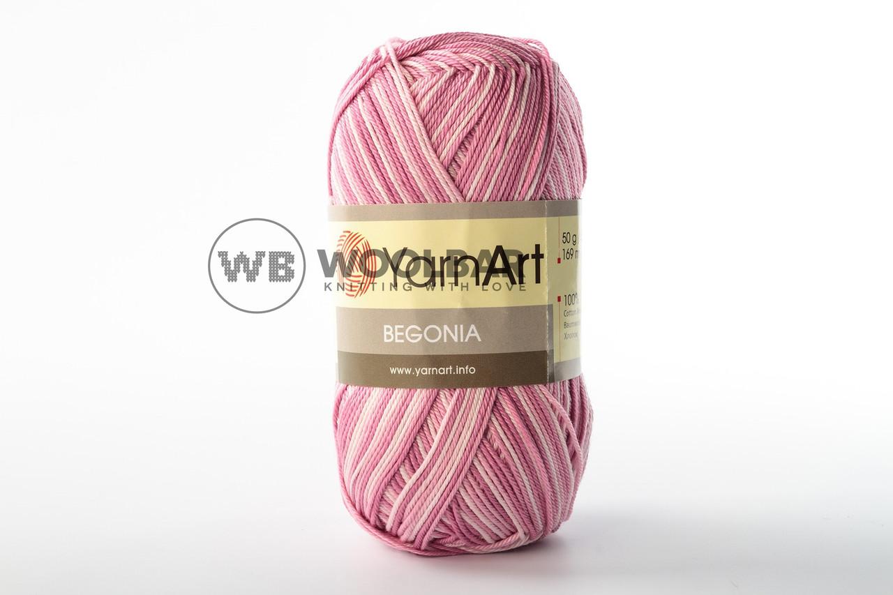 Пряжа YarnArt Begonia Melange 5338 пастельний рожевий меланж