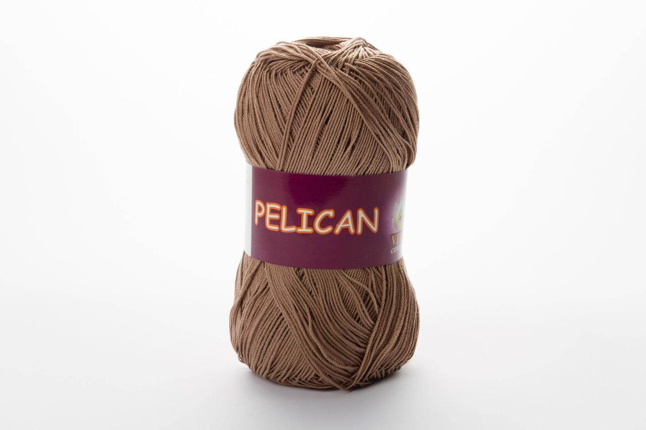 Пряжа бавовняна Vita Cotton Pelican, Color No.3954 темний беж