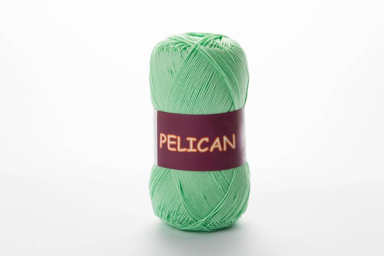 Пряжа хлопковая Vita Cotton Pelican, Color No.3964 салатово-зелёный