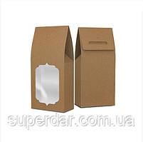 Упаковка-пакет 90х46х190 з віконцем, крафт (ящ.:750 шт)
