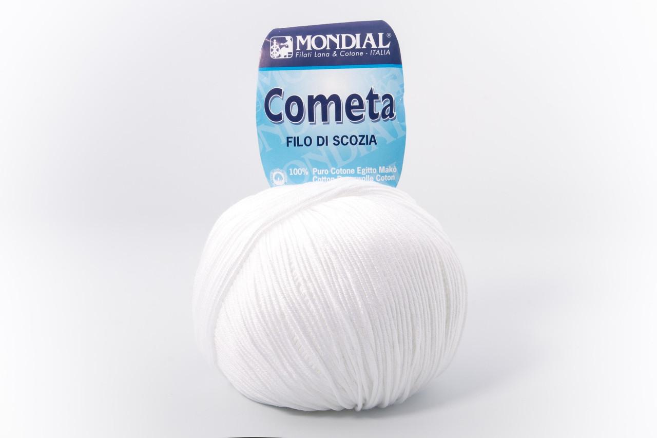 Пряжа Mondial Cometa 0100 білий