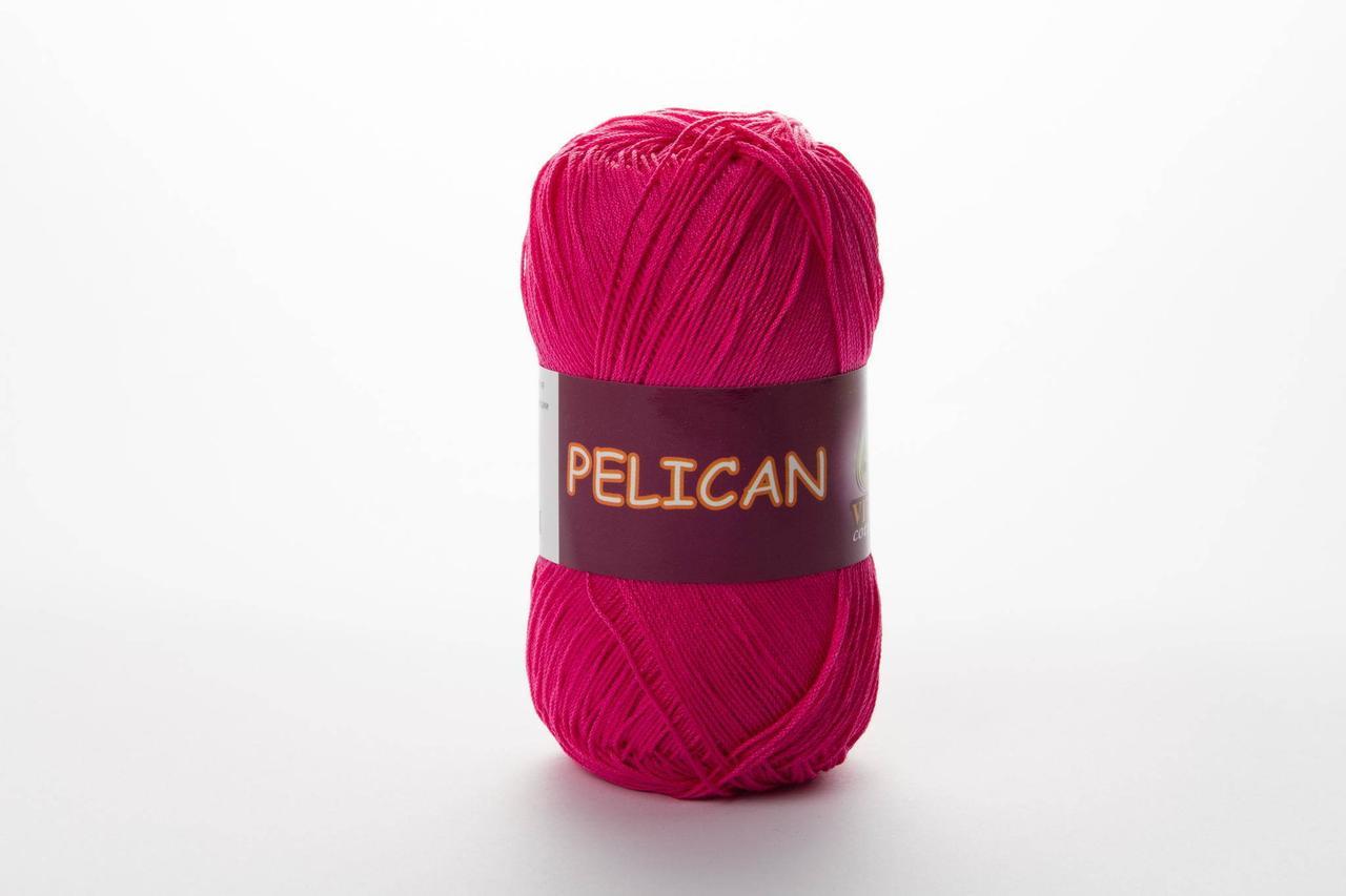 Пряжа бавовняна Vita Cotton Pelican, Color No.3980 фуксія
