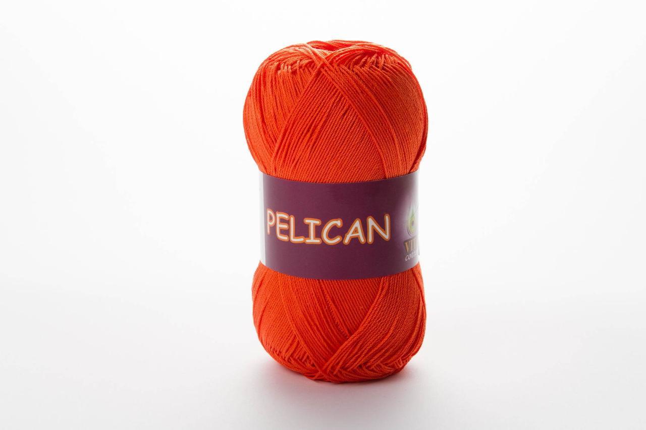 Пряжа бавовняна Vita Cotton Pelican, Color No.3994 морквяний