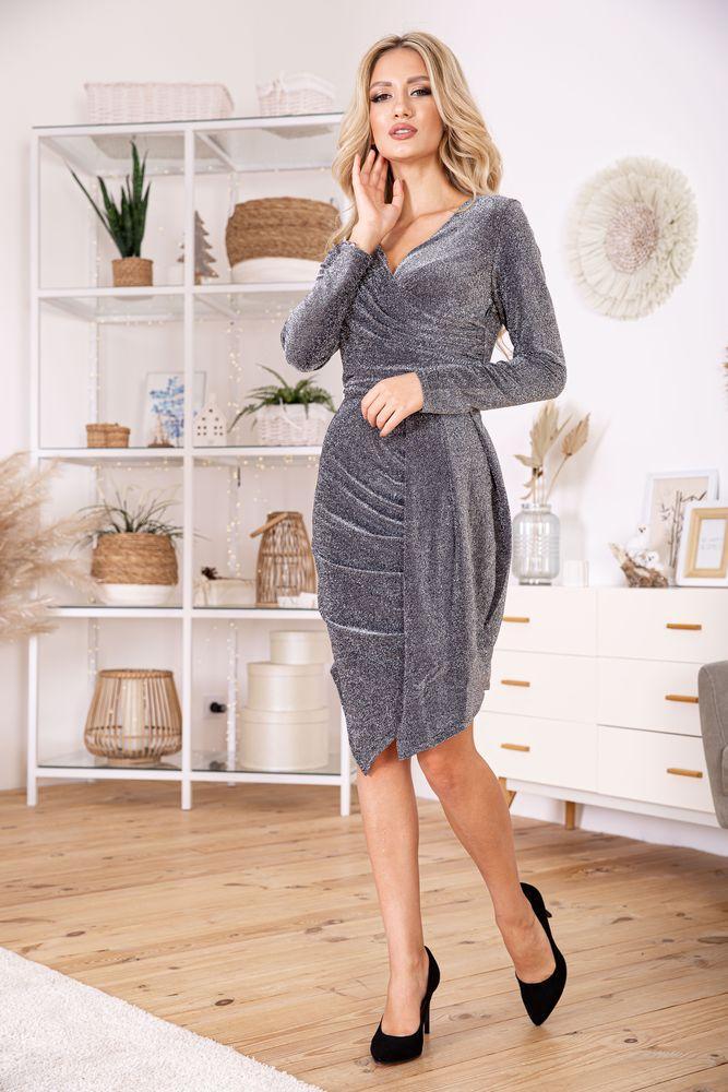 Платье женское 112R011-459 цвет Серебристый