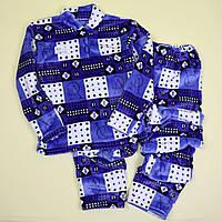 Пижама для мальчика вельсофт Ромбики тм Katty размер 72,76
