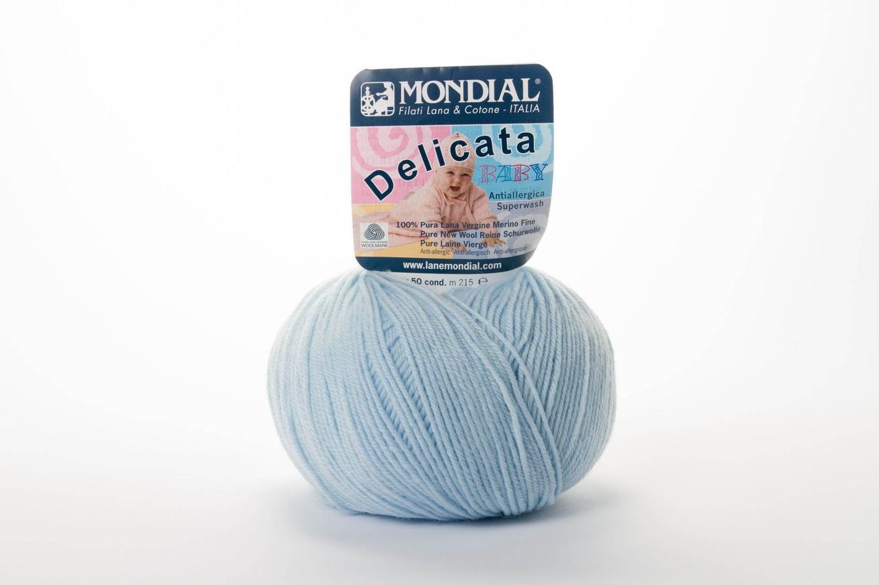 Пряжа Mondial Delicata Baby 0303 блакитний