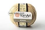 Пряжа YarnArt Jeans 62 белый, фото 7