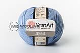 Пряжа YarnArt Jeans 62 белый, фото 9