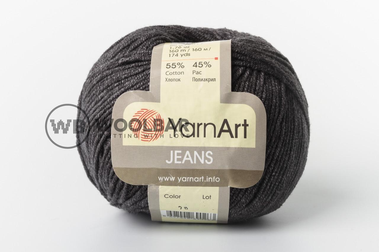 Пряжа YarnArt Jeans 28 темно-сірий