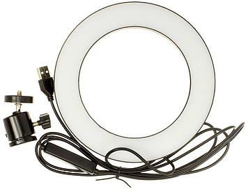 Лампа кільцева світлодіодна 16см Live Streem №36811