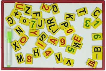 Дошка магнітна 207х308мм (+маркер, магніти цифр і англ.букв, двостороння)(20)