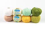 Пряжа Mondial Cotton Soft (Speciale Baby) 0509 желтый, фото 4