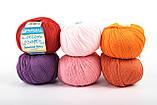 Пряжа Mondial Soft Cotton (Speciale Baby) 0901 насичений блакитний, фото 6