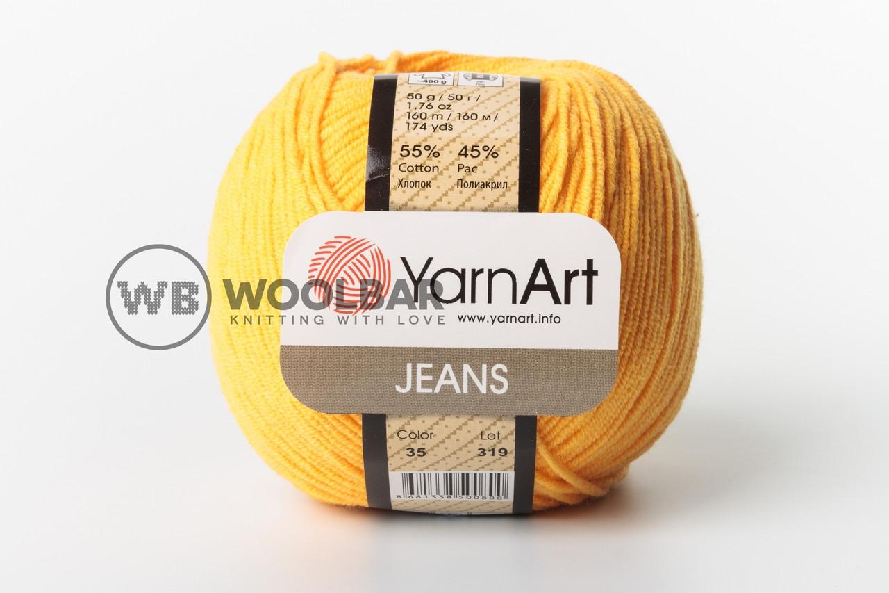 Пряжа YarnArt Jeans 35 пастельный оранж