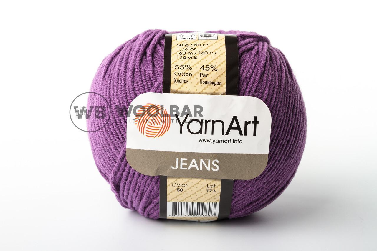 Пряжа YarnArt Jeans 50 яскраво-фіолетовий