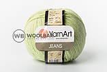 Пряжа YarnArt Jeans 55 яркая бирюза, фото 9