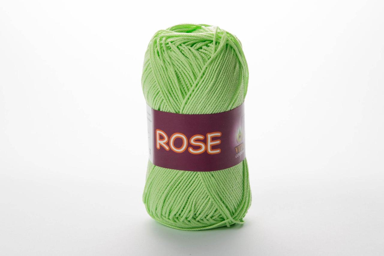Пряжа бавовняна Vita Cotton Rose, Color No.3910 салат