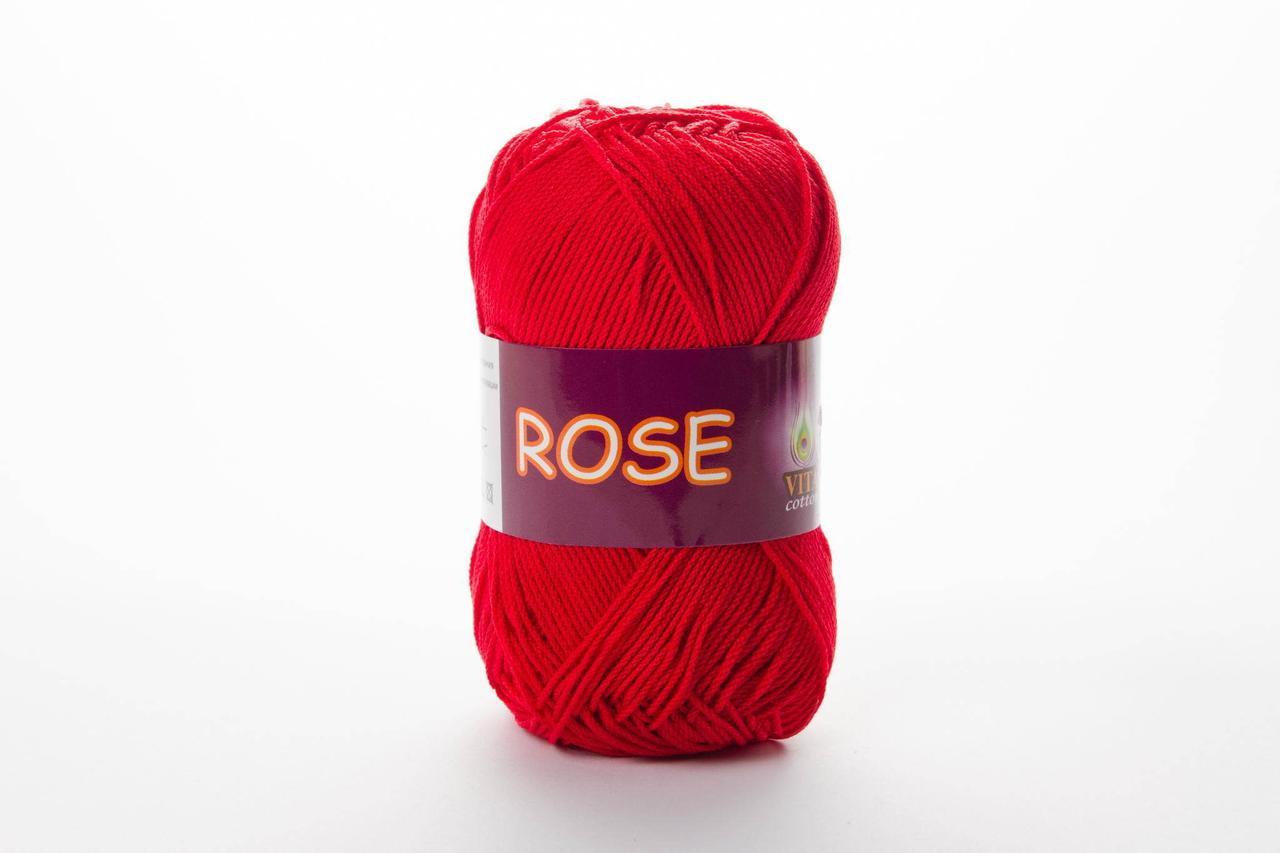 Пряжа хлопковая Vita Cotton Rose, Color No.3917 малина