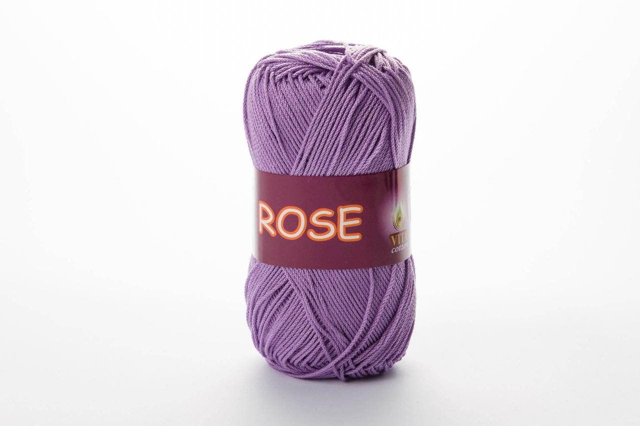 Пряжа хлопковая Vita Cotton Rose, Color No.3920 сирень