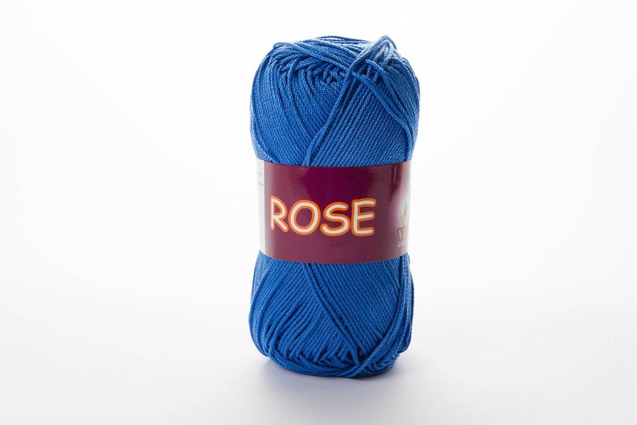 Пряжа хлопковая Vita Cotton Rose, Color No.3931 насыщенный голубой