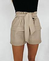 Женские кожаные шорты в стиле Zara, фото 1