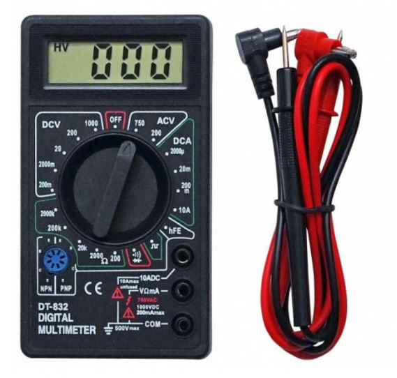 Мультиметр (тестер) Digital DT-832 зі звуковою прозвонкой Чорний (KG-438)