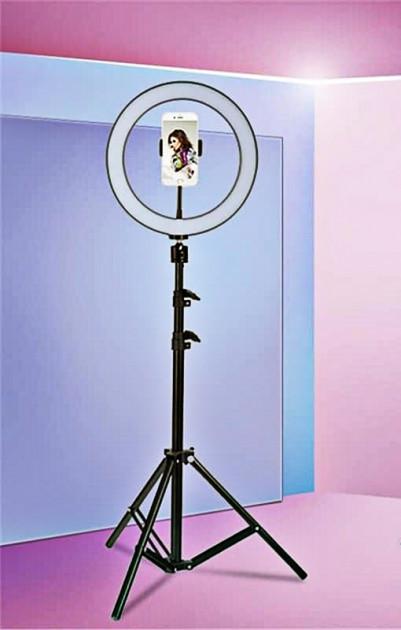 Профессиональная кольцевая светодиодная лампа LED RING D 36 см 36W на штативе для блогера / селфи / фотографа