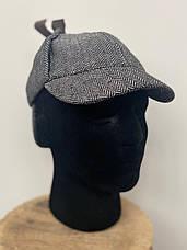 Кепка Шапельє шапка Шерлока Холмса, шляпа охотника за оленями на размер головы 55см, фото 3
