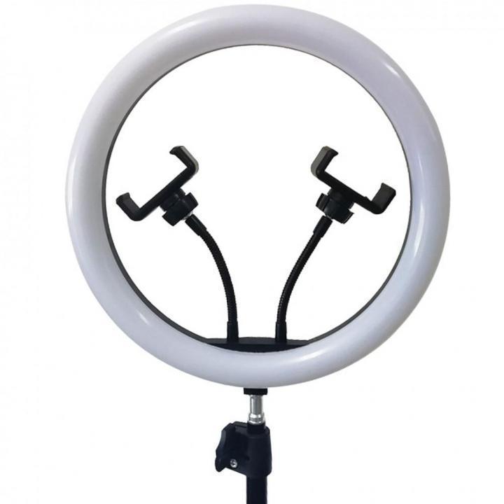 Профессиональная светодиодная кольцевая лампа Ring Fill Light M33 33см 20Вт на 220 светодиодов со штативом