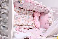 Комплект в кроватку с зверюшками в нежно розовых тонах, фото 8