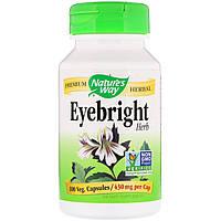 Очанка, Eyebright Herb, Nature's Way, 430 мг, 100 капсул