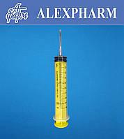 Шприц одноразовый 100мл 3-х компонентный, 18G 1,2*40мм, Luer-Lock, ALEXPHARM (уп/25, ящ/100 шт)