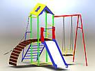 """Игровой детский комплекс для улицы """"Гамми"""" с качелями и горкой, фото 2"""