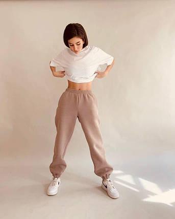 Стильні спортивні штани на флісі, фото 2